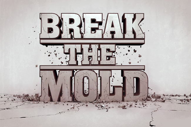 breaking the mold now--sm